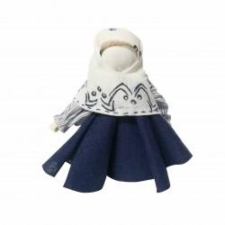 Кукла в платке с узором №1463