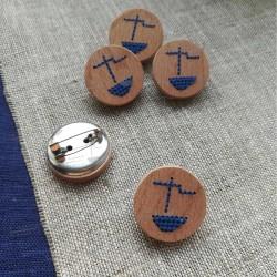 "Значок-брошь ""Кораблик"""